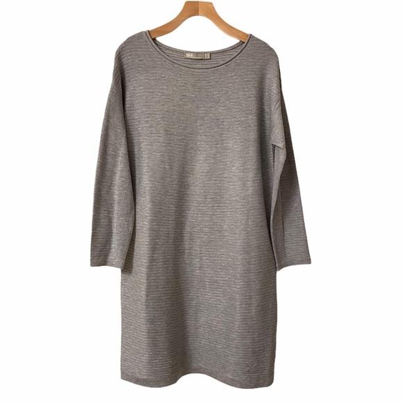 ASOS Wool Blend Ribbed Knit Tunic Sweater Dress